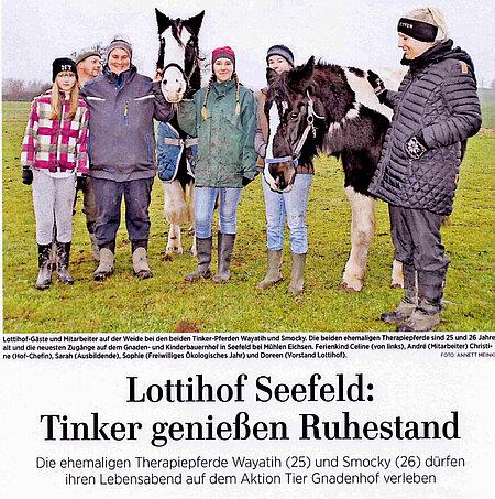 2. Februar 2020 | Ostseezeitung | Tinker genießen Ruhestand
