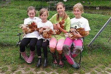 Hühner sind liebenswerte Tiere.