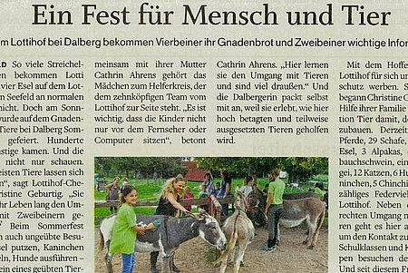 """""""Ein Fest für Mensch und Tier"""""""