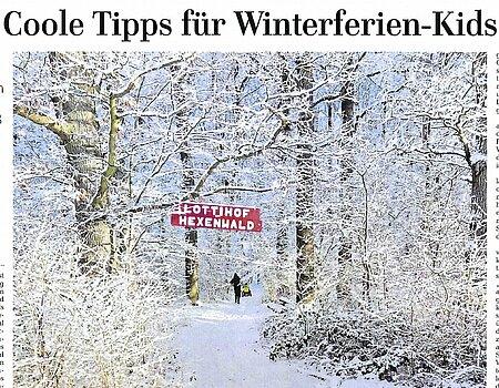 8.2.2021 - Coole Tipps für Winterferien-Kids – Ostseezeitung - Rostock
