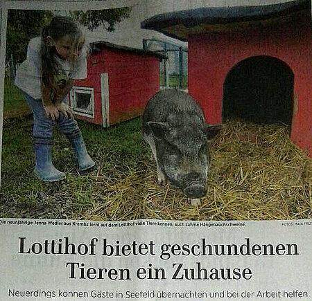 """""""Der aktion tier Lottihof bietet geschundenen Tieren ein Zuhause"""""""