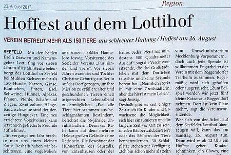 """""""Hoffest auf dem aktion tier Lottihof"""""""